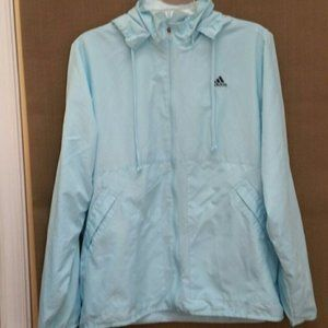 Adidas women jackets hooded pullover L